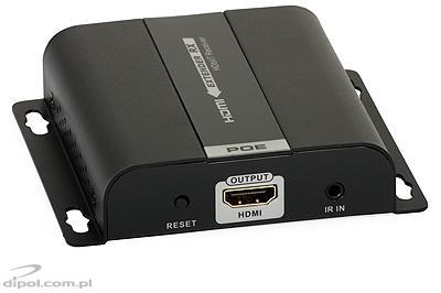 HDMI - IP konverter/Extender (1x5e, PoE 802.3af): Signal-HD (multicast) - vevő