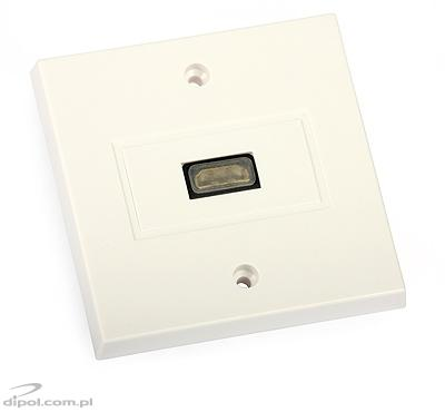 HDMI Wall Outlet (European, single, flush-mounted)