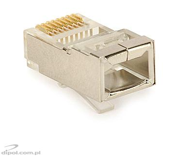 RJ45 8-Position Shielded Modular Plug<br />(for solid wires; 100 pcs)