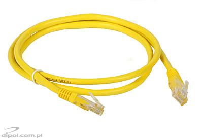 UTP Patch Cable Cat5e (1m, yellow)