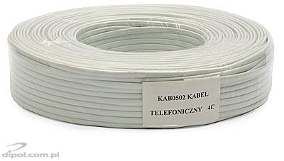 Telephone Flat Cable (4 wires) [100m]