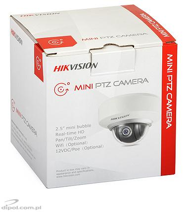 Mini PTZ IP Camera Hikvision DS-2DE2202-DE3/W (dome, 2MP, 3.6-8.6mm, Wi-Fi, PoE)