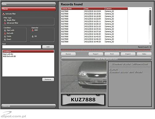 Digifort LPR software - license plate recognition
