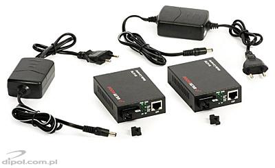 Set media converter ULTIMODE M-407M (o fibra optica singlemode, max. 40 km)
