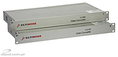 Optický video konverter ULTIMODE V-216D (single-mode, WDM, 16x video, 1x data, RACK 19'')