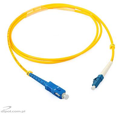 Patchcord jednomodowy ULTIMODE PC-515S SC-LC, simplex G652D 1m