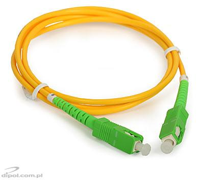 Patchcord single-mode ULTIMODE PC-522S<br />(1 x SC/APC - 1 x SC/APC, 9/125)