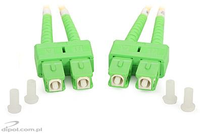 Single-mode Patchcord ULTIMODE PC-522D (2xSC/APC-2xSC/APC, 9/125) 1m