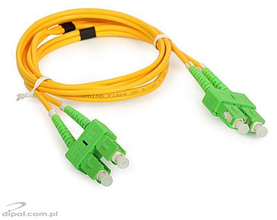 Single-mode Patch Cord: ULTIMODE PC-522D (1m 9/125, 2xSC/APC-2xSC/APC)