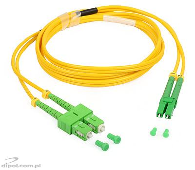 Single-mode Patch Cord: ULTIMODE PC-525D (2xSC/APC - 2xLC/APC, 9/125)