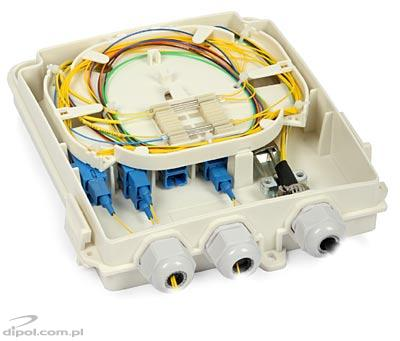 Fiber Optic Distribution Box ULTIMODE TB-08B (wall-mounted)