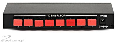 POF Ethernet Switch: ULTIMODE POF-8S (8x OptoLock) - CLEARANCE SALE!