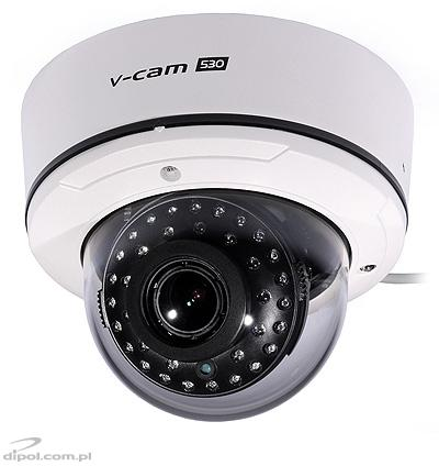 Ceiling Dome Camera: cam 650 (day/night, 650 TVL, D-WDR, Sony Effio-E, 0.01 lx, 2.8-12mm)