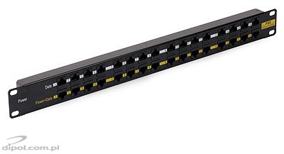 16-port Passive PoE Panel: POEP1611B (with 48V/120W power supply)