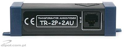 UTP Transmitter / Receiver:TR-2P+2AU (double audio-video transformer)