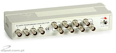 Active Video Signal Splitter RV-4/8 (4-in, 8-out)