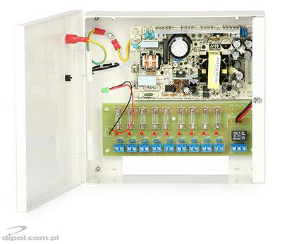 Stabilized Power Supply ZK-65 (11.4-13.2VDC, 9x0.5A)