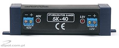 Stabilizer SK-40 - with 40V input and 12V output - for CCTV cameras