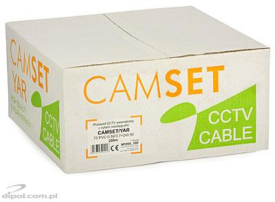 CCTV Cable: CAMSET/YAR 75-0.59/3.7+2*0.50 (2 power wires up to 230VAC) [100m]