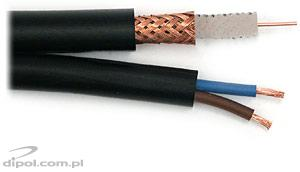 CCTV Installation Cable (outdoor):XYAP PE 75-0.59/3.7+2x0.50 (power) [100m]
