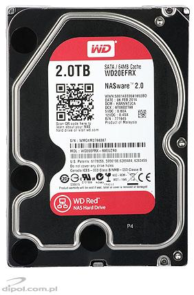 Dysk HDD Western Digital Red 2TB 3.5'' SATAIII 64MB (WD20EFRX)