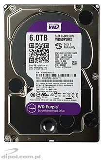 "Dysk HDD 3,5"" Western Digital PURPLE 6TB SATA III 6Gb/s 64MB WD60PURZ"
