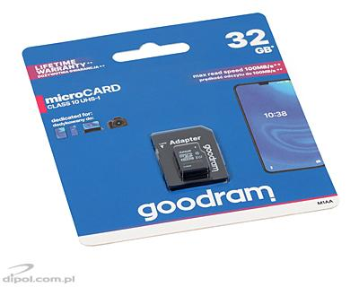 GOODRAM microSDHC 16GB UHS-I class 10 (with SD adapter)