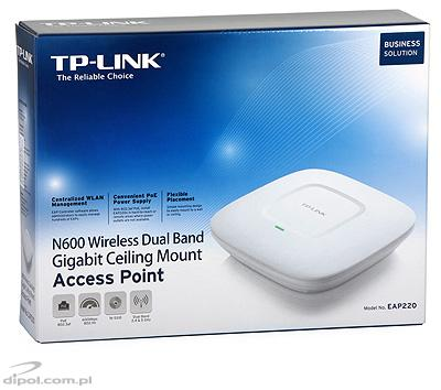 Wireless Access Point TP-LINK EAP220 (N, 600Mbps, PoE 802.3.af)