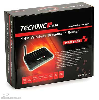 Access Point: TechnicLAN WAR-54GS<br />(w. router and 4-p switch, 16 MB RAM, WISP)