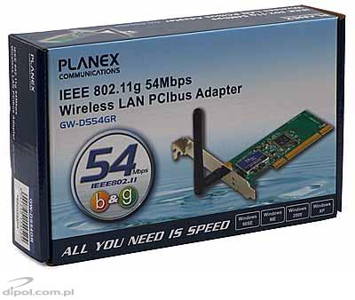 PCI WLAN Adapter: Planex GW-DS54GR (802.11g 54M 2.4 GHz)
