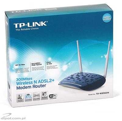 Router ADSL w. 4-port Switch e 802.11n AP: TP-Link TD-W8960N