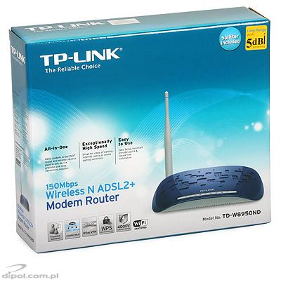 Router: TP-Link ADSL TD-W8950ND (integrácia so 4-portovým switchom a 802.11n AP)