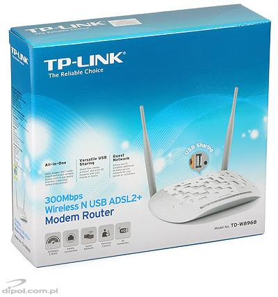 Wireless-N Router TP-LINK TD-W8968 (ADSL2+, EWAN)