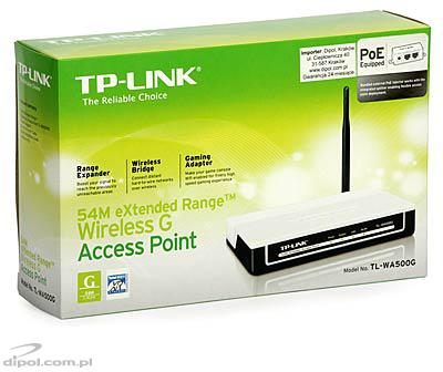 Access Point with eXtended Range: TP-Link TL-WA500G<br />(AP/APC/WDS 2.4GHz, PoE)