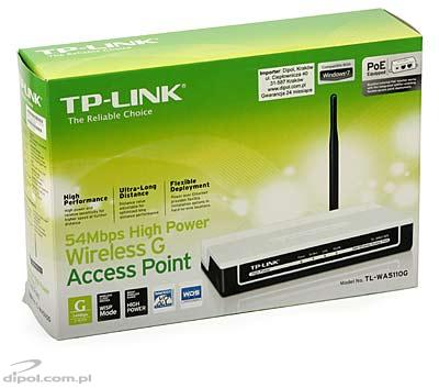 Access Point: TP-Link TL-WA5110G (AP/APC/WISP Client/Repeater/Bridge 2.4 GHz, High Power 400mW)
