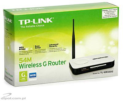Wireless xDSL Router: TP-Link TL-WR340G<br />(built-in 4-port switch and AP)