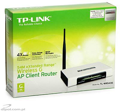 Access Point: TP-Link TL-WR543G - eXtended Range <br />(router &amp;4-p switch, WISP, 2.4GHz)