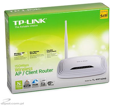 WISP Access Point: TL-WR743ND (with router and 4-port switch)