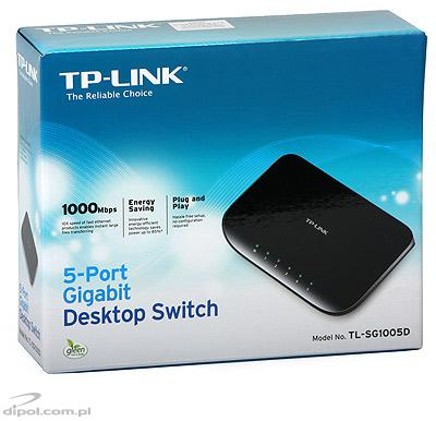Switch PoE: TP-LINK TL-SF1008P (8x10/100Mb/s incl. 4xPoE)
