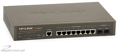 Managed Switch: TP-LINK TL-SG3210 JetStream (8x10/100/1000Mbps, 2xSFP 1000Mbps)