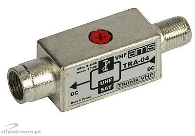 Tłumik VHF TRA-04 pasmo przepustowe 47-2250MHz z przejściem DC