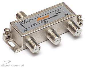 Splitter TV de interior 2 căi - Signal R-2 (3,2 dB, 5-1000 MHz)