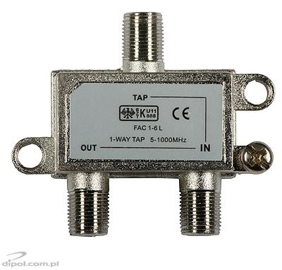 Tap 1-cale TV/FM O-1-6dB (5-1000MHz) Signal