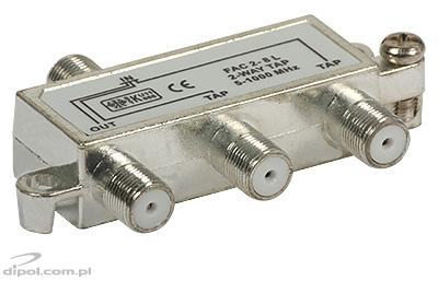 2-way Tap: FAC-2-8 dB (5-1000MHz)