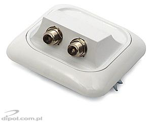 Satellite TV Outlet: Satel GIS-F1-2/P (flush, double, individual installations)