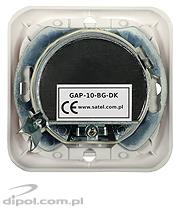 Pass-through flush outlet: Satel GAP-10-BG-DK (10 dB)