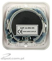 Pass-through Flush Outlet: GAP-14-BG-DK (14dB)