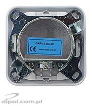 Pass-through flush outlet: Satel GAP-18-BG-DK (18 dB) - CLEARANCE SALE!