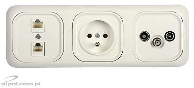 Triple Frame (for Satel flush outlets)