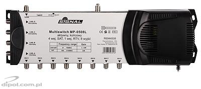 Multiswitch 04/05: Signal MP-0504 (TV terrestre ativa)